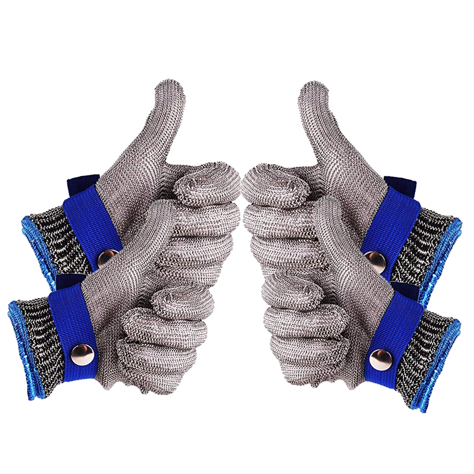 Safety Cut Proof Stab Resistant 316L Stainless Steel Wire Butcher Glove High Performance Level 5 Protection Size M