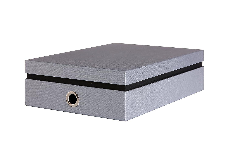 11497-K1-001 DIN A4 Bruno Ritter Verpackungen Sehr stabile Archivbox deutsche Manufakturarbeit schwarz Aufbewahrungsbox