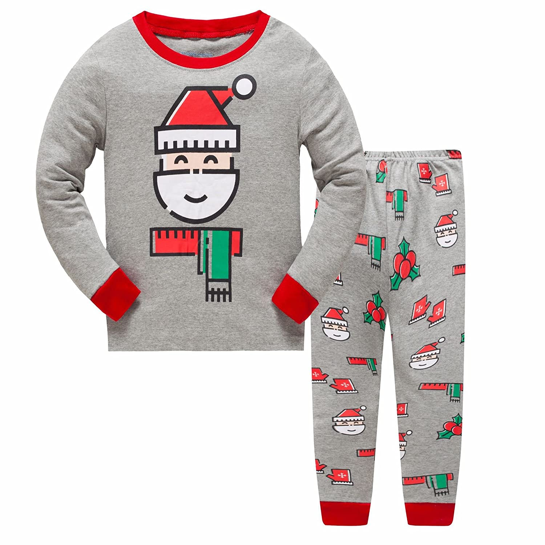 Showu Ensembles Pantalons Et Haut Garçon T-Shirt Tops à Manches Longues Et Pantalon Enfants Pyjama enfant Garçon 1-7 Ans