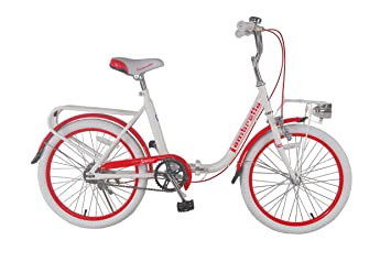"LAMBRETTA BIKES Bicicleta Plegable 20"" Special Folding Blanco/Rojo"