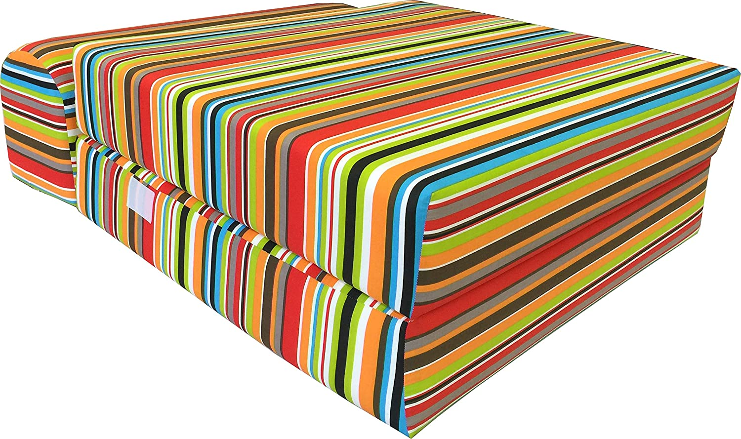 Amazon.com: Multi colores rayas individual Tamaño Sleeper ...
