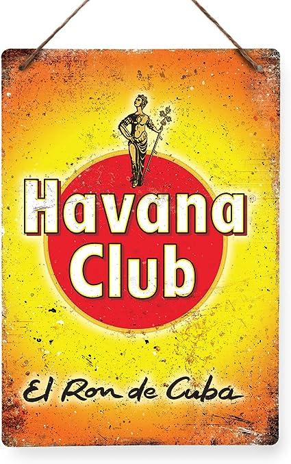 Bacardi Ron – réplica Vintage placa metálica para la pared Retro pub bar Mancave, 29x20cm TWINE/STRING