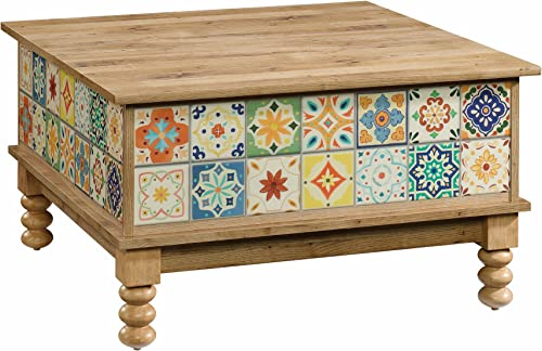 Sauder Viabella Lift Top Coffee Table, Antigua Chestnut finish
