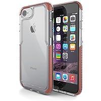 Capa protetora Impact Pro iPhone 7/8, TPU flexível nas extremidades e ajuda na absorção de impactos, Transparente/Rosa, IPI7RG, Geonav