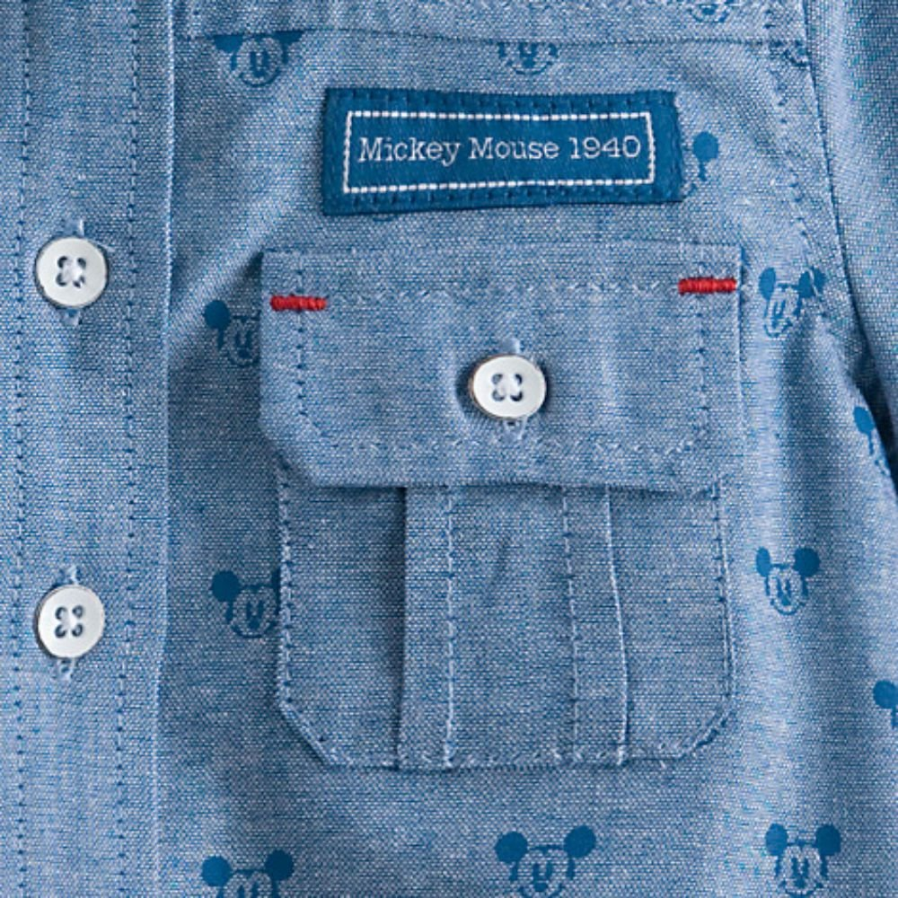 Disney Mickey Mouse Button-Down Shirt for Baby
