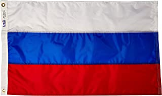 product image for Annin Flagmakers Model 199000 Russia Flag Nylon SolarGuard NYL-Glo, 2x3 ft, 100% Made in USA to Official United Nations Design Specifications