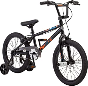 Mongoose Switch BMX Bike for Kids, 18-Inch Wheels, Includes Removable Training Wheels