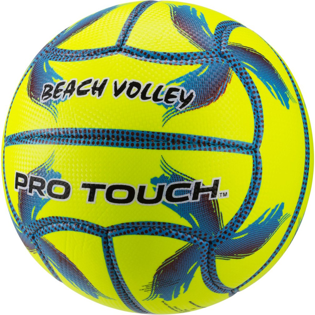 PRO TOUCH 274466900005 Ballon de Beach-Volley Mixte Adulte, Jaune/Bleu/Lila, 5 RPOJZ|#Mikasa