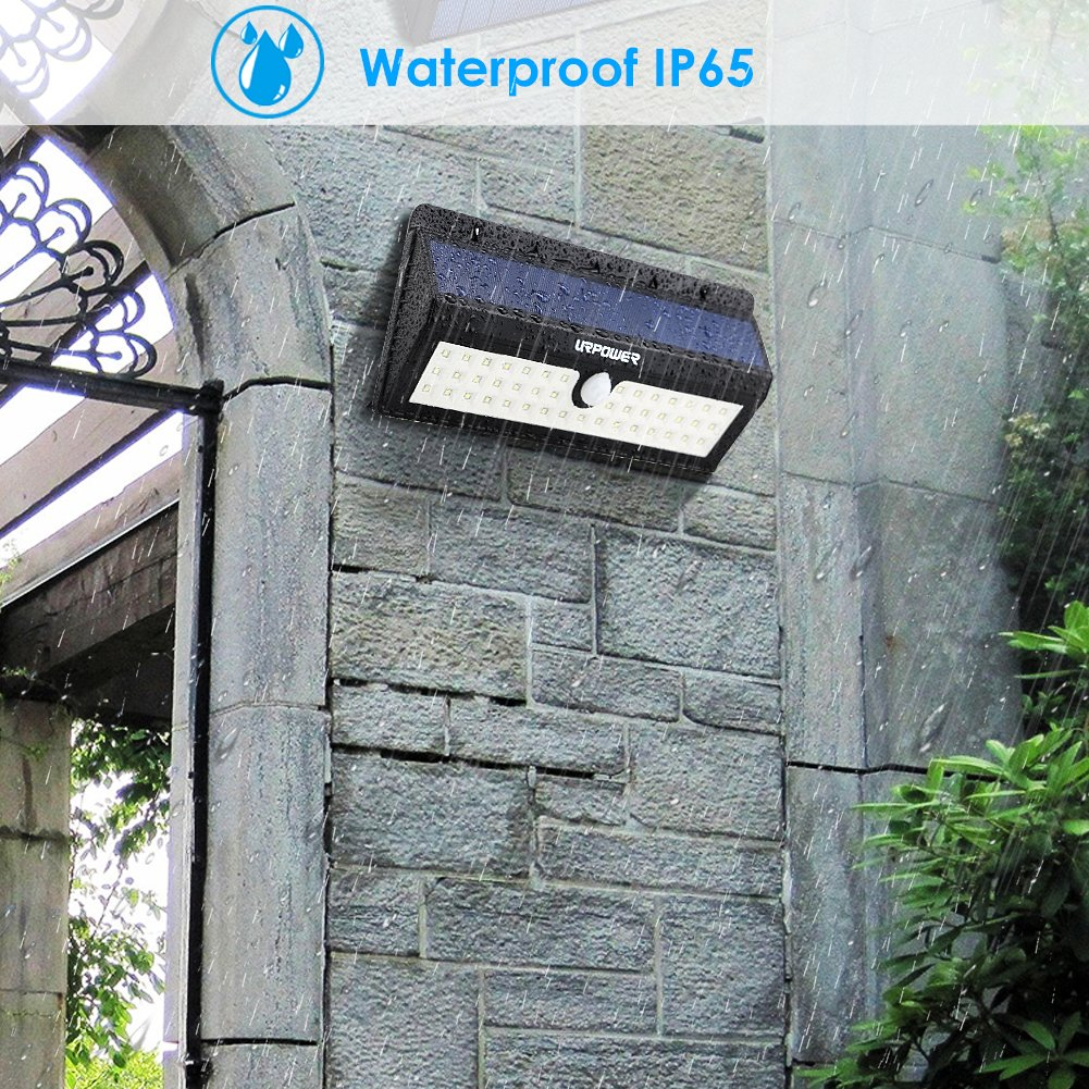 URPOWER Solar Lights, 44 LED Waterproof Motion Sensor Lights Outdoor Wireless Solar Powered Wall Light Motion Activated Auto On/Off Solar Security Lights Outdoor for Fence Patio Deck Yard Cool White by URPOWER (Image #6)
