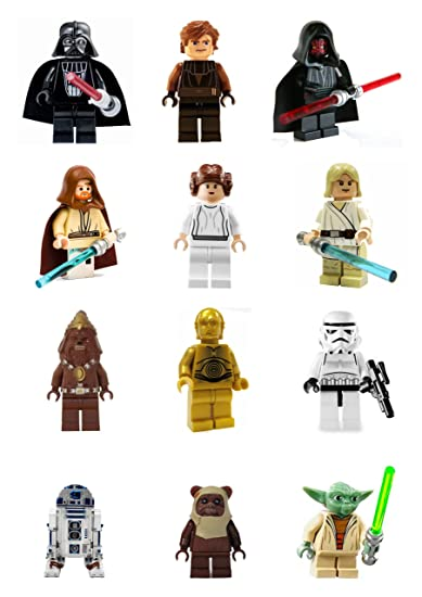 12 Stand Up Premium Wafer Paper Lego Star Wars Edible Cupcake ...