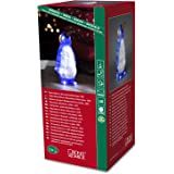 Konstsmide 6167-203 / Pinguino piccolo LED in acrile / 24 diodi bianco freddo / a batteria