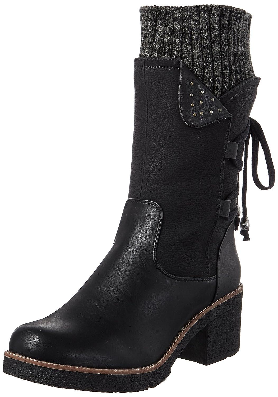 Rieker 99673, Botas para Mujer36 EU|Negro (Schwarz/Schwarz/Black-grey)