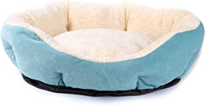 JEMA Round Pet Dog Bed for Cats & Dogs with Non-Slip...