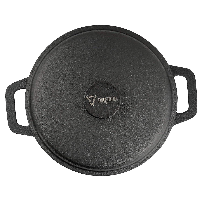 BBQ-Toro - Juego de Ollas de hierro fundido con tapa y asas I 3,0 ...