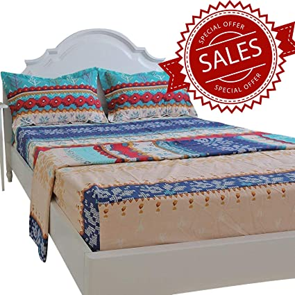 Amazoncom Brandream King Size Sheets Set Cotton Bohemian Exotic