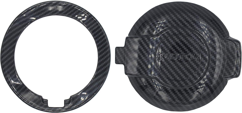 Woopeey Carbon Fiber Fuel Tank Cover Trim Accessories Filler Door Compatible with Dodge Challenger 2015-2020
