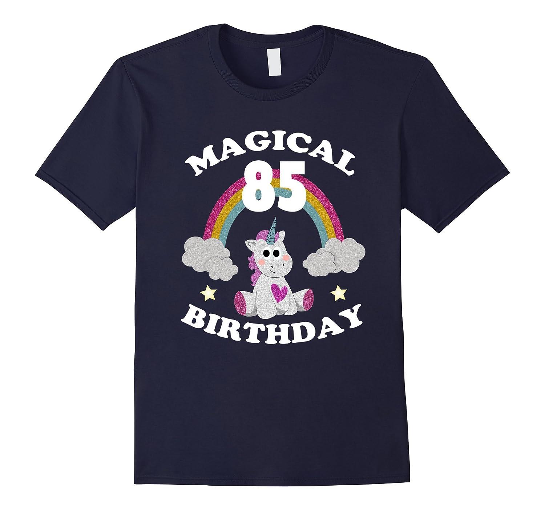 85th Birthday Shirt Magical Unicorn Birthday T-Shirt Rainbow-CD