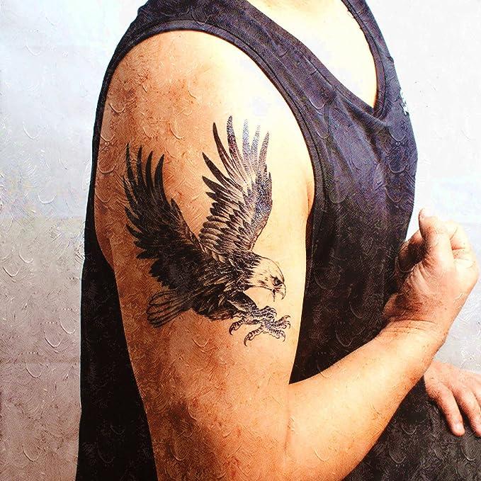 COKOHAPPY Grande Temporales Tatuaje Águila Pájaro Halcón Ala: Amazon.es: Belleza