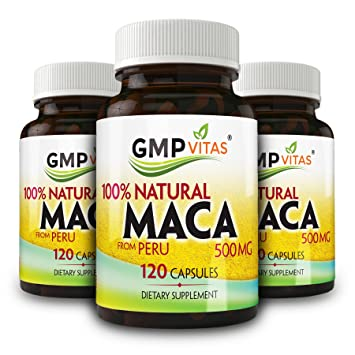 GMP Vitas® Premium Natural Peru MACA (3 Packages)Increase Libido, Improves Vigor