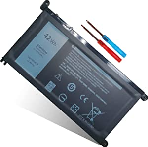 42WH Type WDX0R WDXOR Laptop Battery Replacement for Dell Inspiron 13 5368 5378 7368 7378 15 5565 5567 5568 5578 7560 7570 7579 7569 17 5765 5767 5770 Latitude 3180 3189 FC92N CYMGM 3CRH3 T2JX4