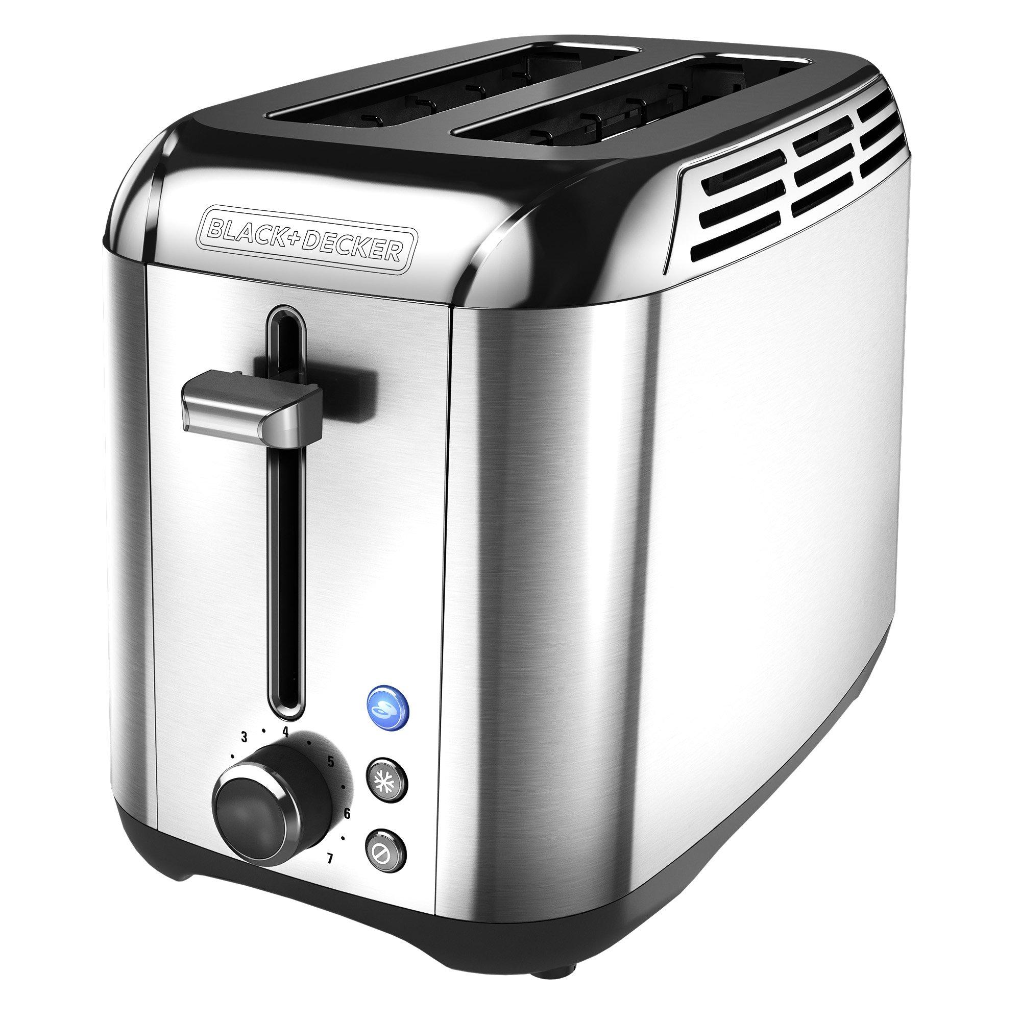 BLACK+DECKER 2-Slice Toaster, Rapid Toast, Stainless Steel, TR3500SD by BLACK+DECKER