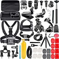 ShowTop 50-In-1 Action Camera Accessory Kit for GoPro Hero 7 6 5 4 3 Session, DJI OSMO Action SJ4000/5000, Nikon and…