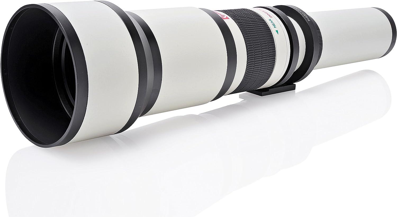Lente Opteka 650-1300mm para Canon EF-Mount EOS 90D, 80D, 77