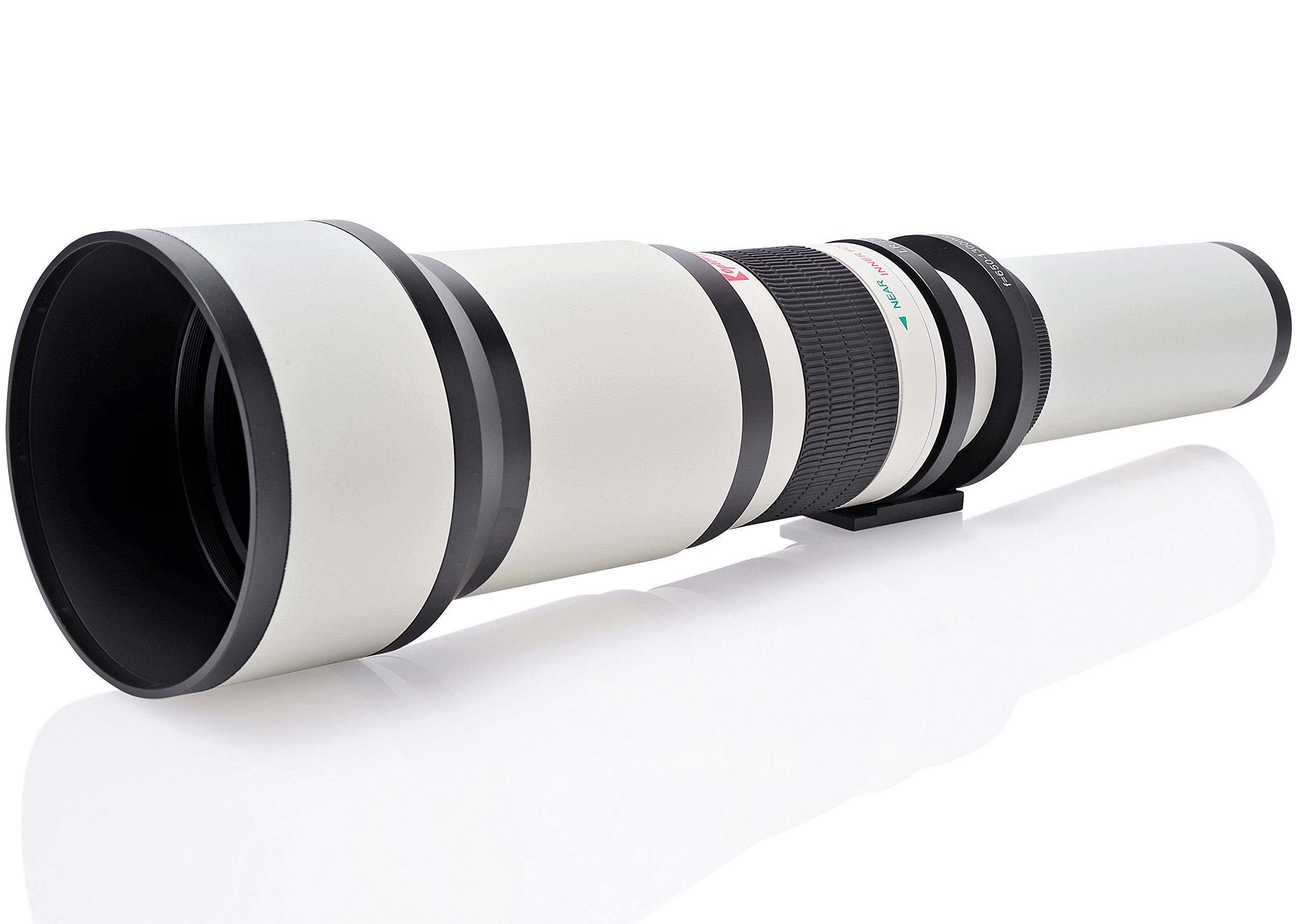 Opteka 650-1300mm f/8 HD Telephoto Zoom Lens for Canon EOS 80D, 77D, 70D, 60D, 60Da, 50D, 7D, 6D, 5D, 5Ds, 1Ds, T7i, T7s, T7, T6s, T6i, T6, T5i, T5, T4i, T3i, T3, T2i, SL2, SL1 Digital SLR Cameras