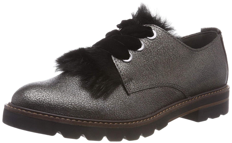 Marco Tozzi 2-2-23704-21 984, Zapatos de Cordones Oxford para Mujer 41 EU Gris (Pewter Met.c. 984)