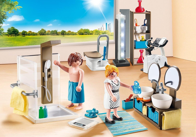 PLAYMOBIL City Life Baño, con Efectos de Luz, a Partir de 4 Años (9268): Amazon.es: Juguetes y juegos