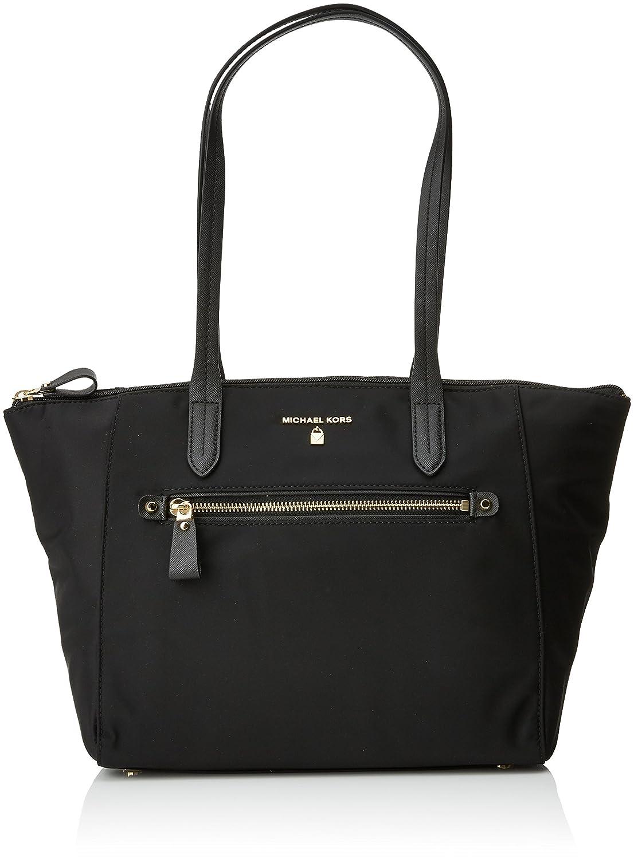e7885498104f Michael Kors Womens Nylon Kelsey Md Tz Tote Tote Black (Black)   Amazon.co.uk  Shoes   Bags