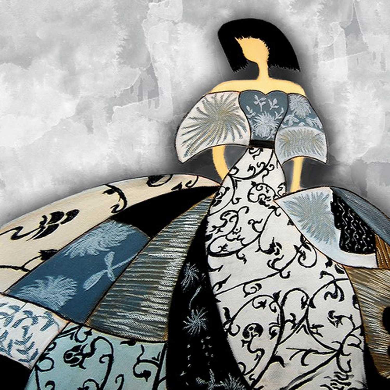 Cuadros de Meninas Modernas Lienzo Impreso Bastidor galería 3,5 cm Decoración de la Pared (70 x 70 cm)