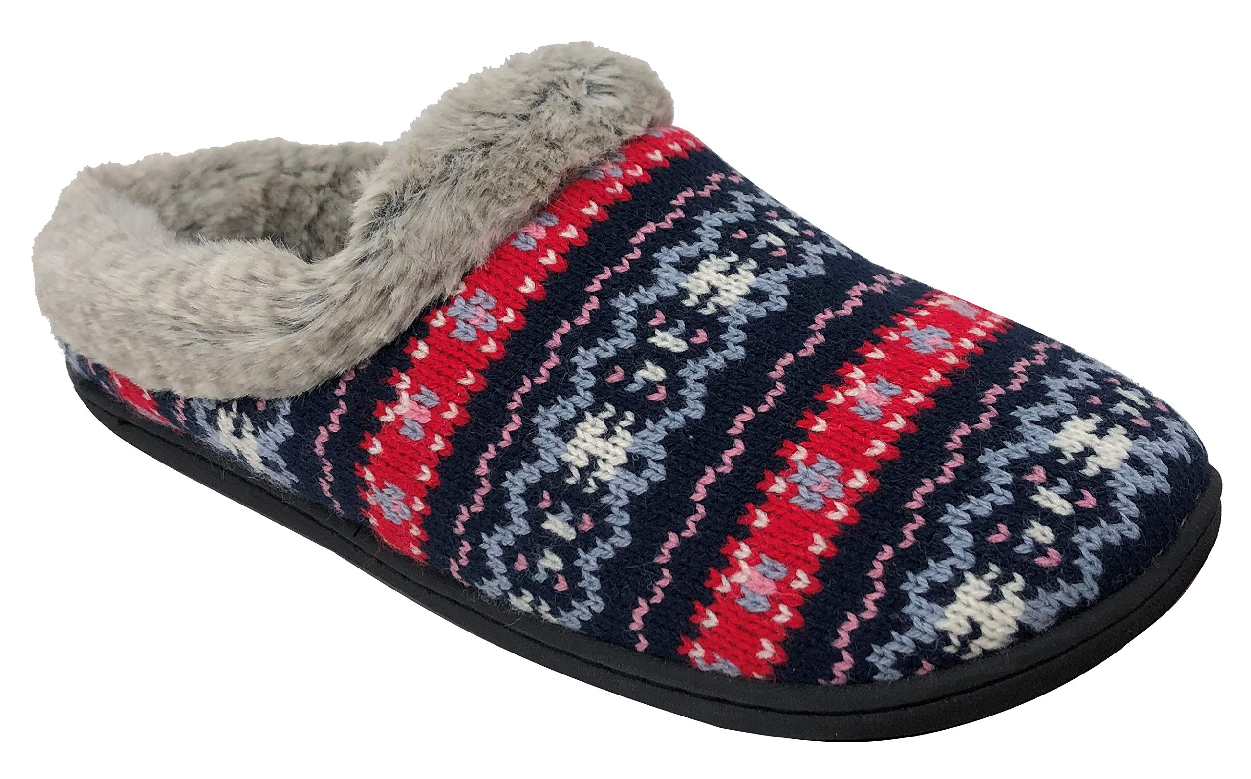 Dearfoams Women's Knit Clog Memory Foam Slipper