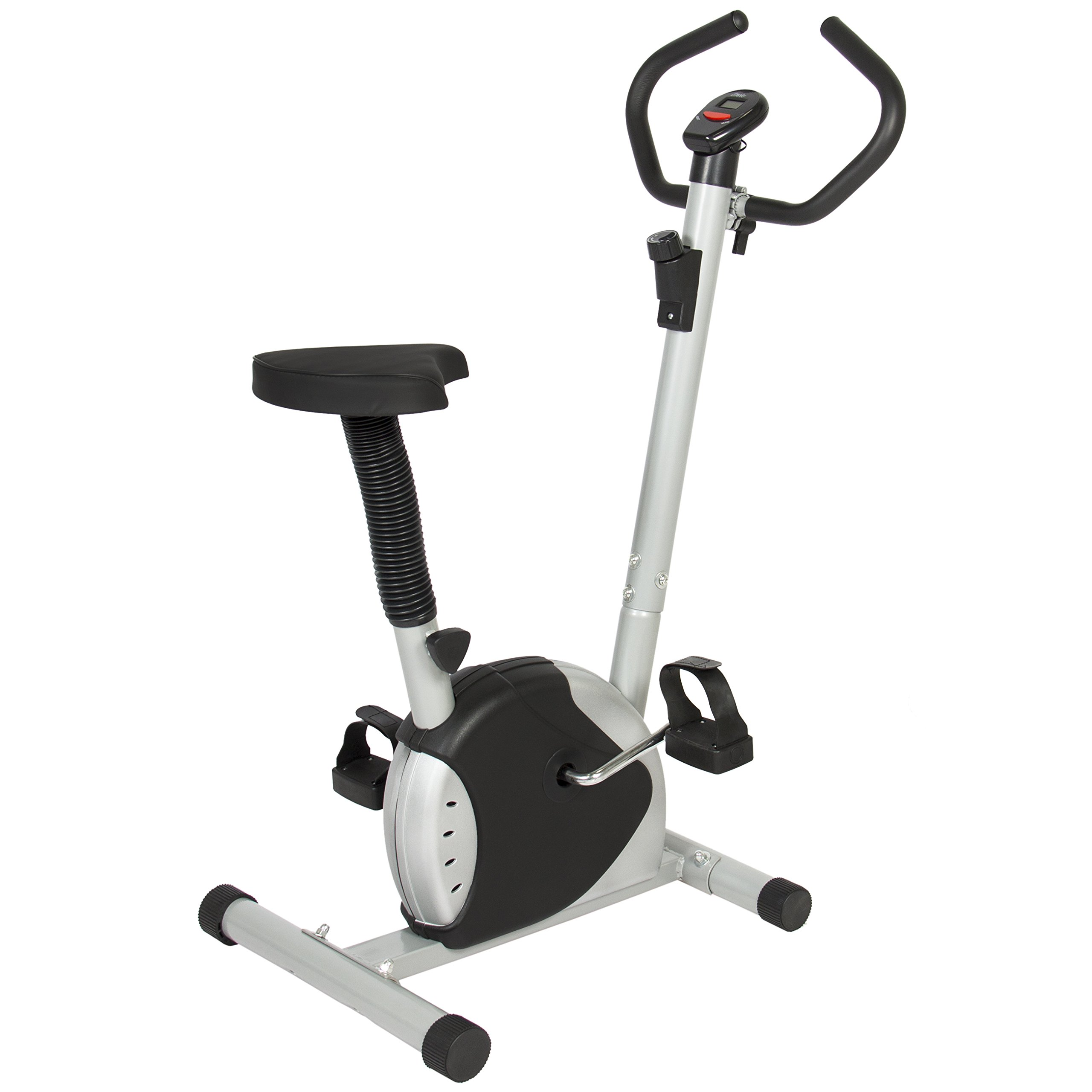 Best Choice Products Adjustable Exercise Bicycle Machine w/ Resistance Adjustment - Black/Silver
