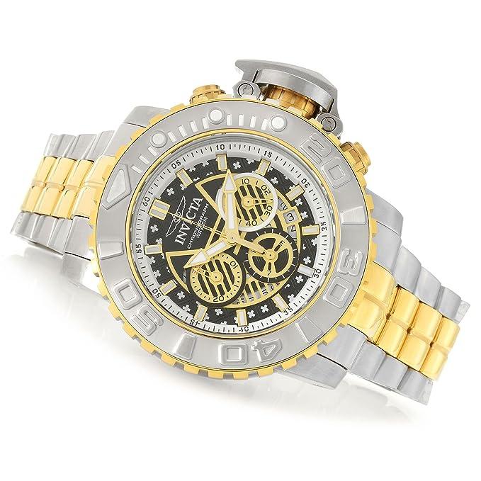 Amazon.com: Invicta Mens 58mm Sea Hunter Gen II Swiss Quartz Chronograph Stainless Steel Bracelet Watch: Watches