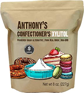 product image for Anthony's Confectioner's Xylitol Sweetener, 8 oz, Powdered Sugar Alternative, Made from Birch, Gluten Free, Keto Friendly, Non GMO