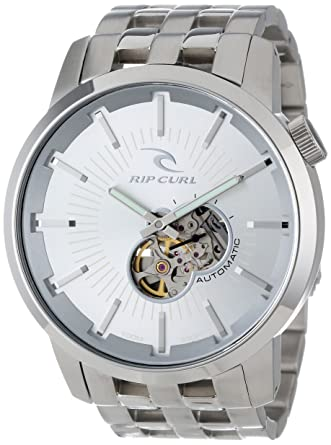 6c1feec33af Buy Rip Curl Men s A2405-SIL Detroit Automatic SSS Stainless Steel Fashion  Watch Online at