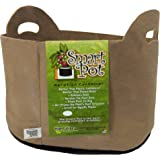 Smart Pots 5-Gallon Smart Pot Soft-Sided Container, Tan with Cut handles