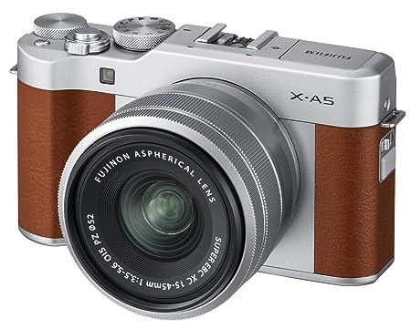 Fujifilm X A5 Mirrorless Digital Camera W/Xc15 45mm F3.5 5.6 Ois Pz Lens   Brown by Fujifilm