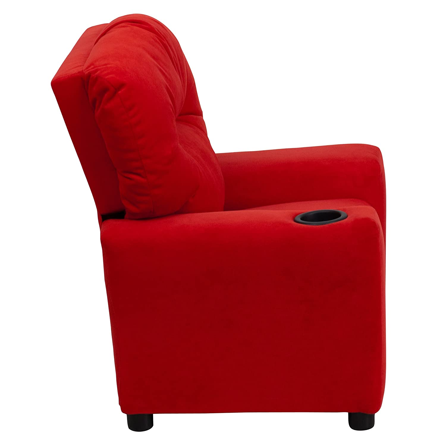 Amazon Flash Furniture Contemporary Red Microfiber Kids