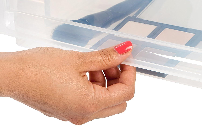 IRIS Deep Box Chest Drawer, White, 3 Pack