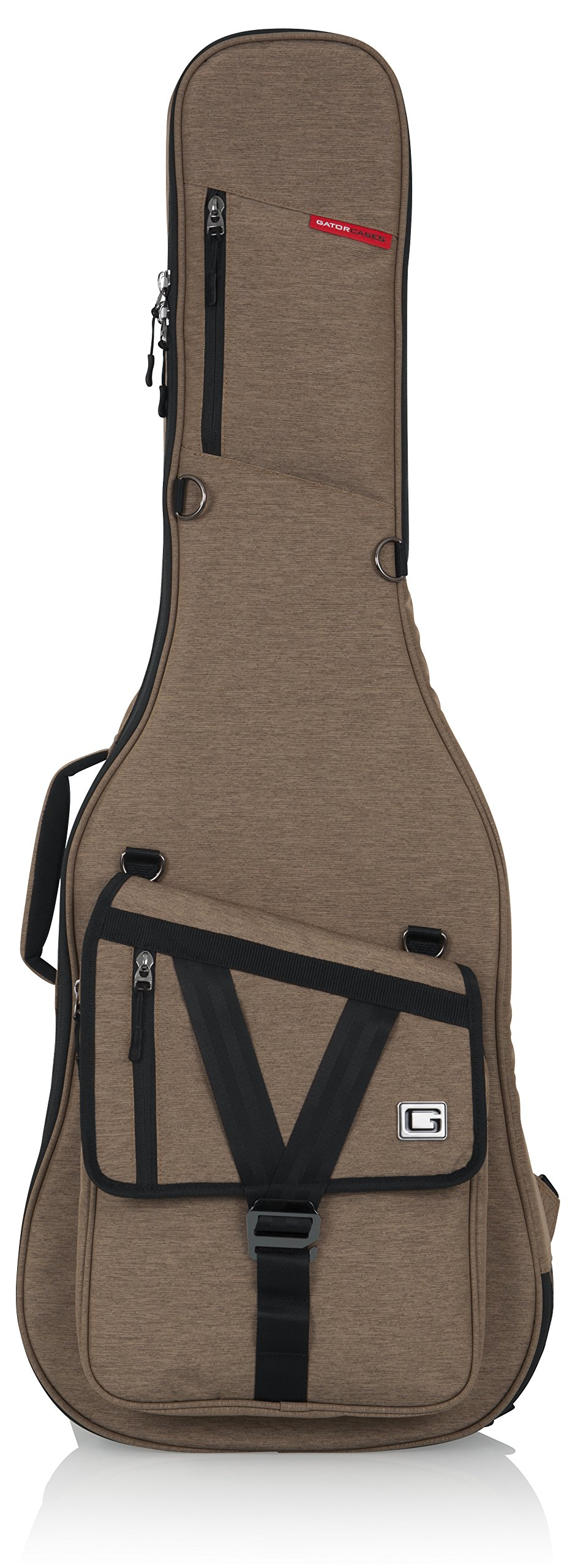 Gator Cases Transit Series Electric Guitar Gig Bag; Tan Exterior (GT-ELECTRIC-TAN) by Gator