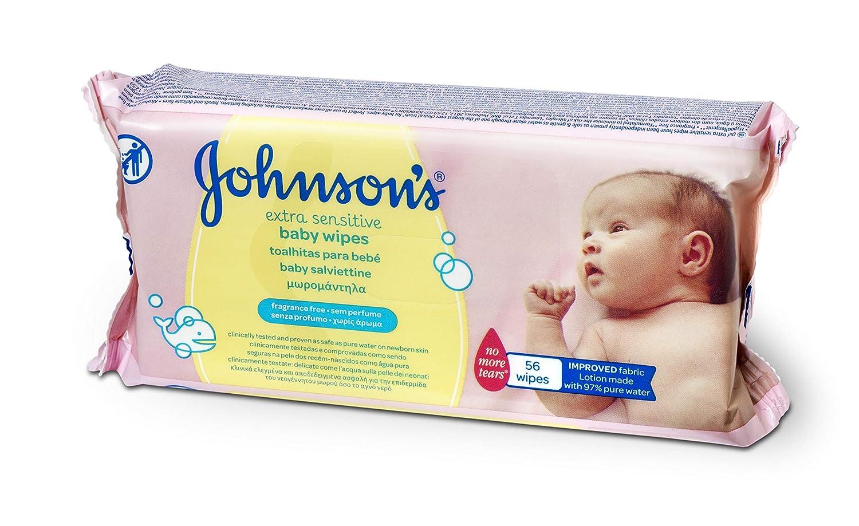 Johnsons Baby - Toallitas para Bebe Extra Sensibilidad - 12 Paquetes de 56 toallitas - [Total: 672 toallitas]: Amazon.es: Salud y cuidado personal