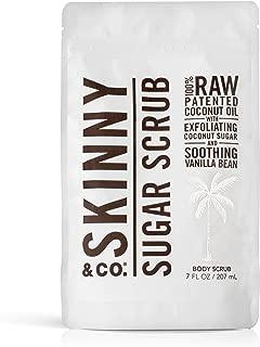 product image for SKINNY & CO. Vanilla Sugar Body Scrub- 100% Raw All Natural Exfoliant Made with Coconut Oil, Coconut Sugar, and Vanilla, Gentle, Moisturizing, Detoxifying, Vitamin Rich, 7 oz.