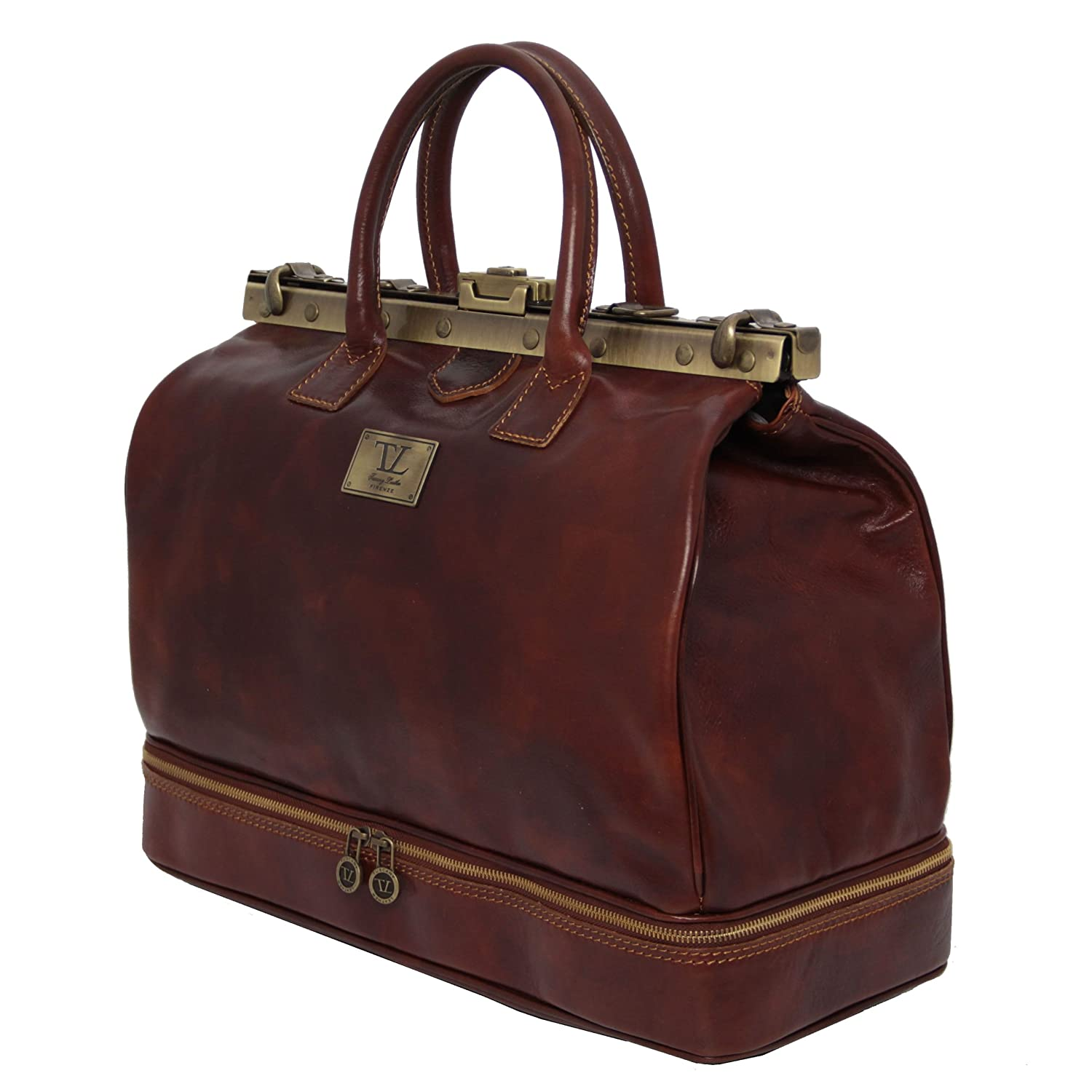 Tuscany Leather 81411854 Barcelona - Estribo de Maul Médico Bolsa de viaje de piel, color marrón: Amazon.es: Zapatos y complementos