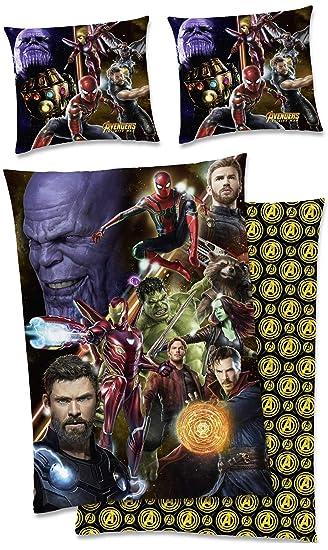 Marvel Kinder Bettwäsche Avengers Heroes Mit Zwei 3d Brillen 135 X