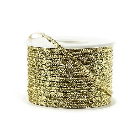 1/8 inch Gold Ribbon