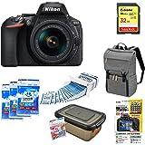 Nikon デジタル一眼レフカメラ D5600 AF-P 18-55 VR レンズキット ブラック D5600LKBK + アクセサリー6点セット(SDカード 32GB、カメラリュック、液晶保護フィルム、ドライボックス、乾燥剤、レンズクリーニングティッシュ)