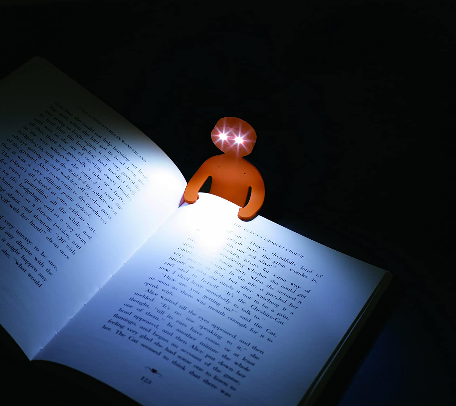 lightman bendable book light stand crying blue