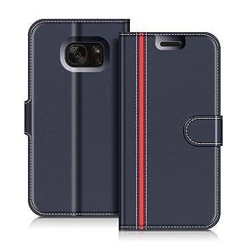 COODIO Funda Samsung Galaxy S7 con Tapa, Funda Movil Samsung S7, Funda Libro Galaxy S7 Carcasa Magnético Funda para Samsung Galaxy S7, Azul ...